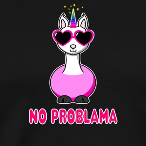 Unicorn Lama No Problama - Men's Premium T-Shirt