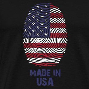 USA Flag - America - Made in USA - regalo - Maglietta Premium da uomo