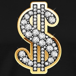 Diamonds Symbool van de Dollar - Mannen Premium T-shirt
