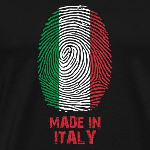 Italy flag - Made in Italy - gift - World Cup fan - Men's Premium T-Shirt