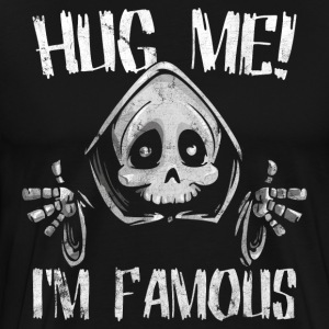 Push me - Hug me - cuddling the death for Halloween - Men's Premium T-Shirt
