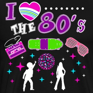 I love the 80s / Eighties / Mottoshirt / Motto / 1980er - Men's Premium T-Shirt