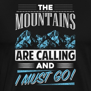The mountains call - Men's Premium T-Shirt