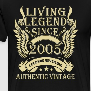 Living Legends Since 2005 Authentic Vintage - Herre premium T-shirt