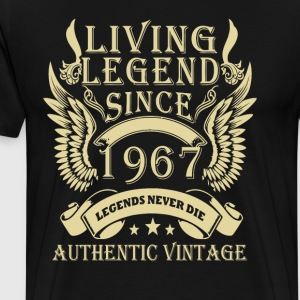 Living Legends Since 1967 Authentic Vintage - Men's Premium T-Shirt