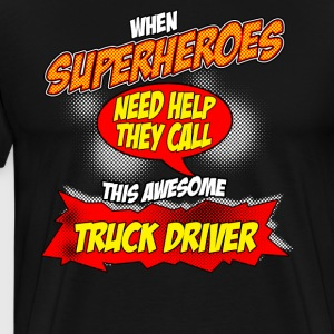 Super hero gift funny occupation truck truck driver - Men's Premium T-Shirt