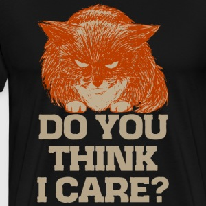 Ginger the cynic cat, vind je dat ik omgee? t-shirt - Mannen Premium T-shirt