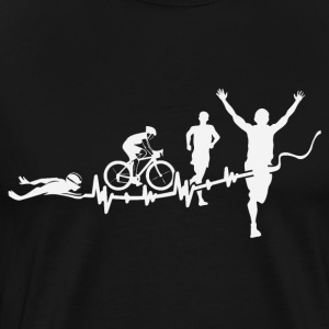 triathlon - Premium-T-shirt herr