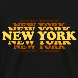 new york cooper brown II - Premium-T-shirt herr
