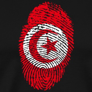 Tunisia fingerprint - Men's Premium T-Shirt