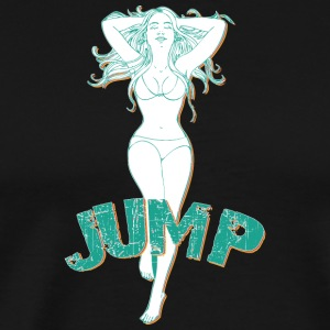 Big tits girl jumping - Men's Premium T-Shirt