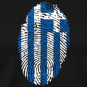 Fingerprint - Greece - Men's Premium T-Shirt