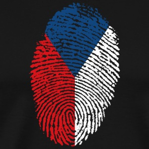 Fingerprint - Czech Republic - Men's Premium T-Shirt