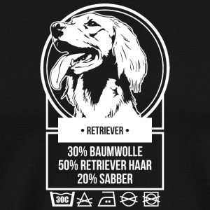 Florian Saemann Inlay Retriever - Männer Premium T-Shirt