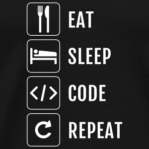 Nerd - Eat Sleep Repeat Code - Premium-T-shirt herr