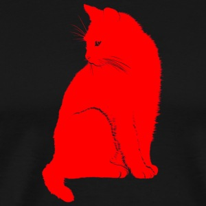 Black cat, cat, hangover - Men's Premium T-Shirt