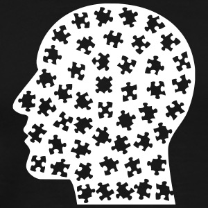 Nerd head with puzzle pieces - Men's Premium T-Shirt