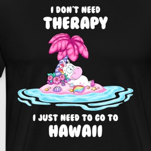 Therapy Therapy Hawaii Eenhoorn - Mannen Premium T-shirt