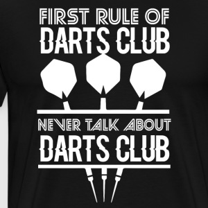 First rule of darts club - Men's Premium T-Shirt