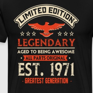 Limited Edition Legendary Est 1971 - Premium-T-shirt herr