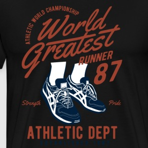 World Greatest Runner running jogging running sport - Men's Premium T-Shirt