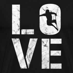Skiing love gift - Men's Premium T-Shirt