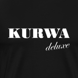 Kurwa Deluxe - White Polish swear word - Men's Premium T-Shirt
