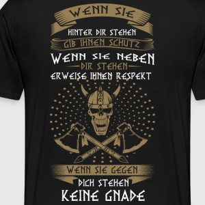 Vikings, No Mercy - Premium-T-shirt herr