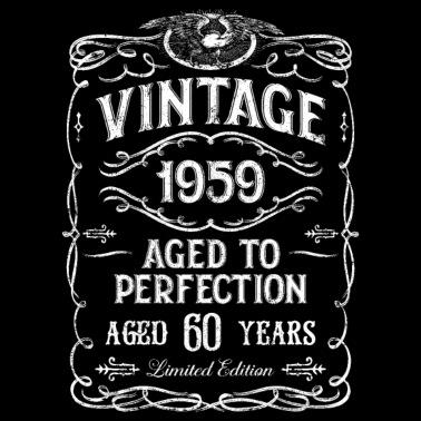 60ème anniversaire du cadeau rétro de l'année 1959 sac en tissu