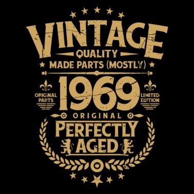 Super 50e verjaardag - Vintage cadeau uit 1969 50 jaar Mannen premium T &OW04