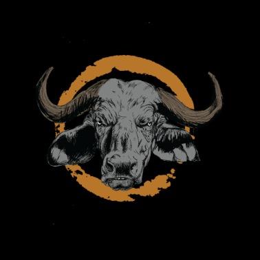 Bull Bull Bison Buffalo Gnu Økologisk T shirt mænd | Spreadshirt