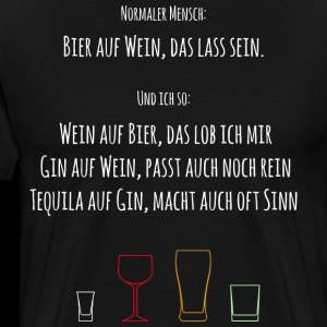 Beer Wine Tequila Gin Funny Gift Shirt