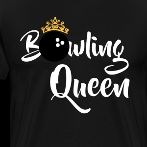 Bowling Queen T-skjorter Funny Bowlers Gift Shirt