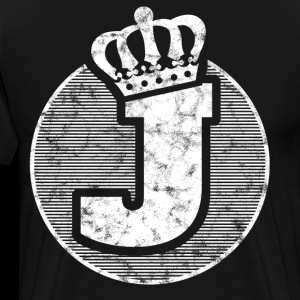 Stylish letter J with crown