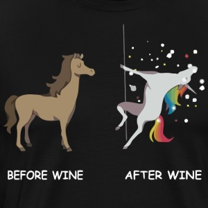 Unicorn before wine and after wine