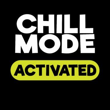 07e7b2c8797f9b Chill Mode On Chillen Männer Premium T-Shirt - Schwarz