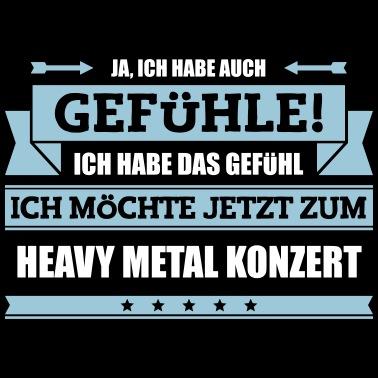 Heavy Metal Spruch Manner Premium T Shirt Spreadshirt