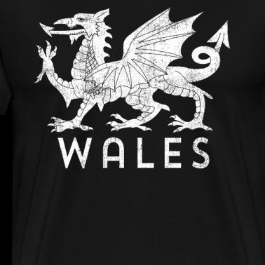 Welsh Flag Distressed Black Adult Tank Top
