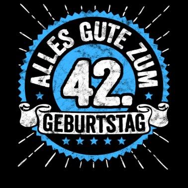 42 Geburtstag Stoffbeutel Spreadshirt