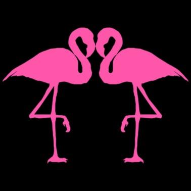 ae5ac1c0333 Corazón de flamencos - Camiseta premium hombre
