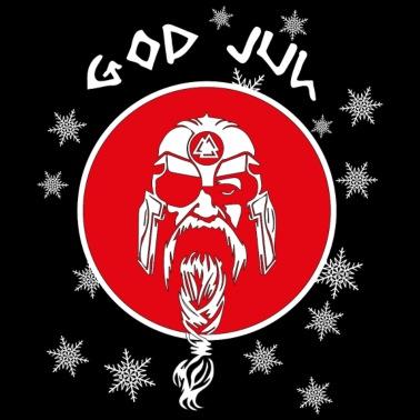 Frohe Weihnachten Männer Bilder.God Jul Wikinger Skandinavien Frohe Weihnachten Männer Premium T Shirt Schwarz