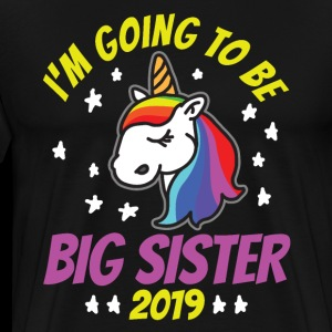 Big sister sibling unicorn T-shirt