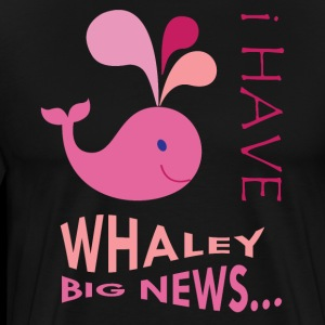 Pink Whale. Pregnancy announcement. New baby.SALE