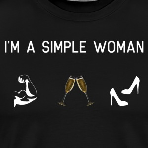 I am a simple woman - muscles champagne shoes