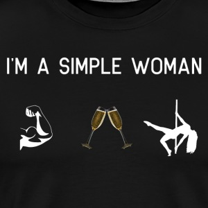 I am a simple woman muscles champagne pole dance