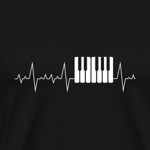 Heart beat heart rate heart line gift piano