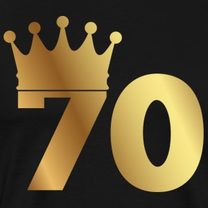 70th birthday: 70 with crown
