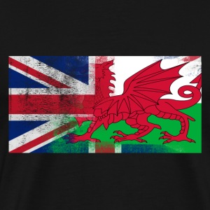 British Welsh Half Wales Half UK Flag