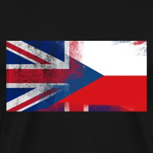 British Czech Half Czech Republic Half UK Flag