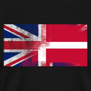 British Danish Half Denmark Half UK Flag